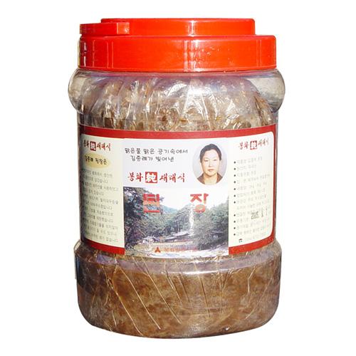 김종례순재래식 된장 2kg  전통 방식 메주 토종 장 무방부제 국산콩 100%