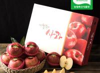 [선물용]대왕 부사(미얀마) 3kg(9과~10과) 2020년 사과★10+1 덤증정
